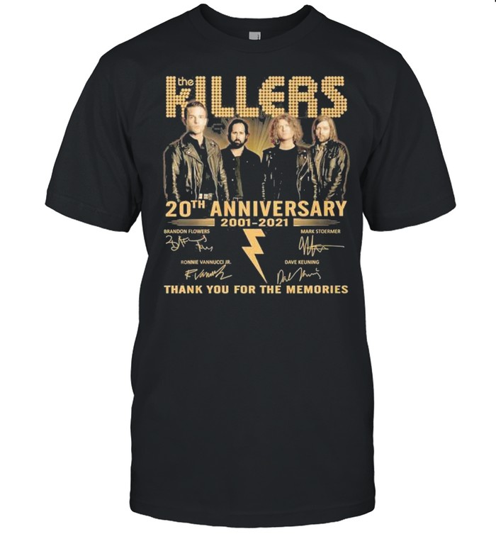 Killers 20th anniversary 2001 2021 thank you for the memories shirt