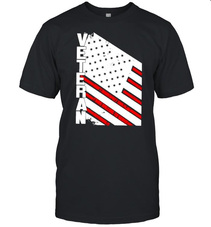 Veteran American flag 2021 shirt