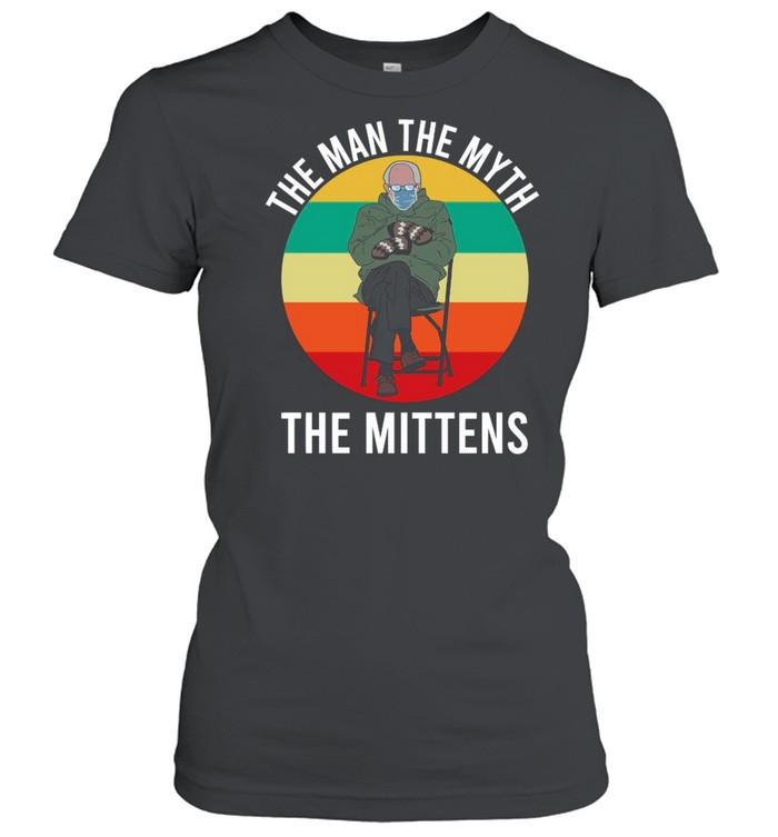 Bernie Sanders The Man The Myth The Mittens 2021 Vintage shirt Classic Women's T-shirt