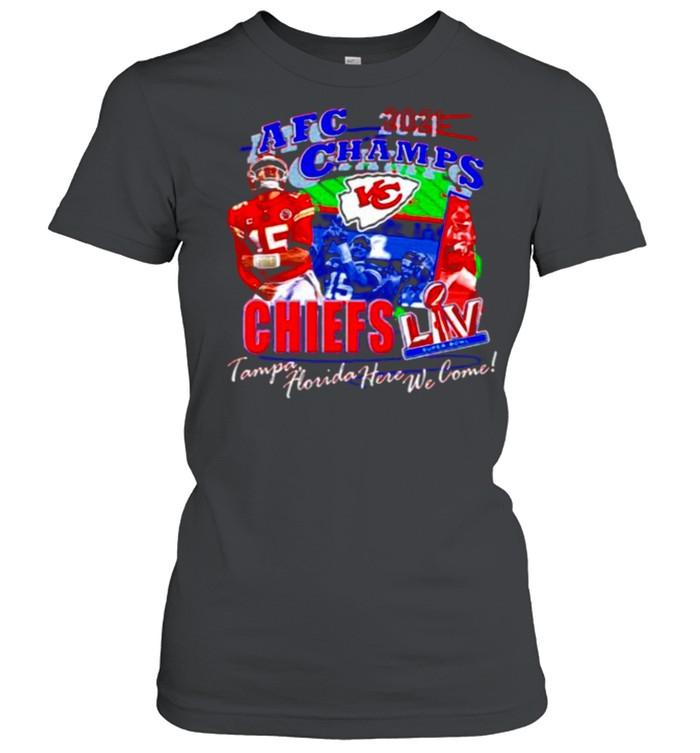 2021 Afc Champs Kansas City Chiefs Tampa Florida Here We Come shirt Classic Women's T-shirt