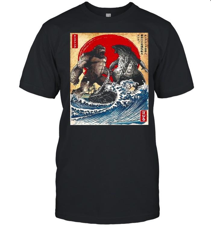 Kaiju Japanese King Kong Vs Godzilla Movie 2021 shirt