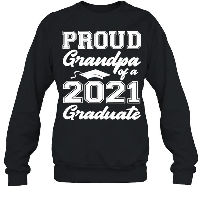 Proud grandpa of a 2021 graduate shirt Unisex Sweatshirt