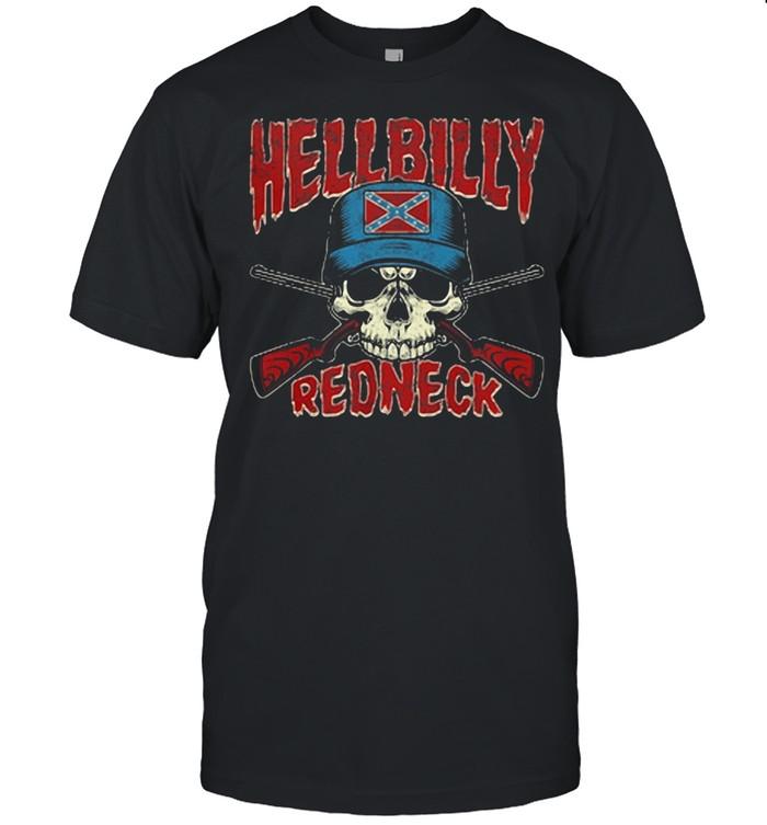 Hellbilly Redneck Skull Sun shirt