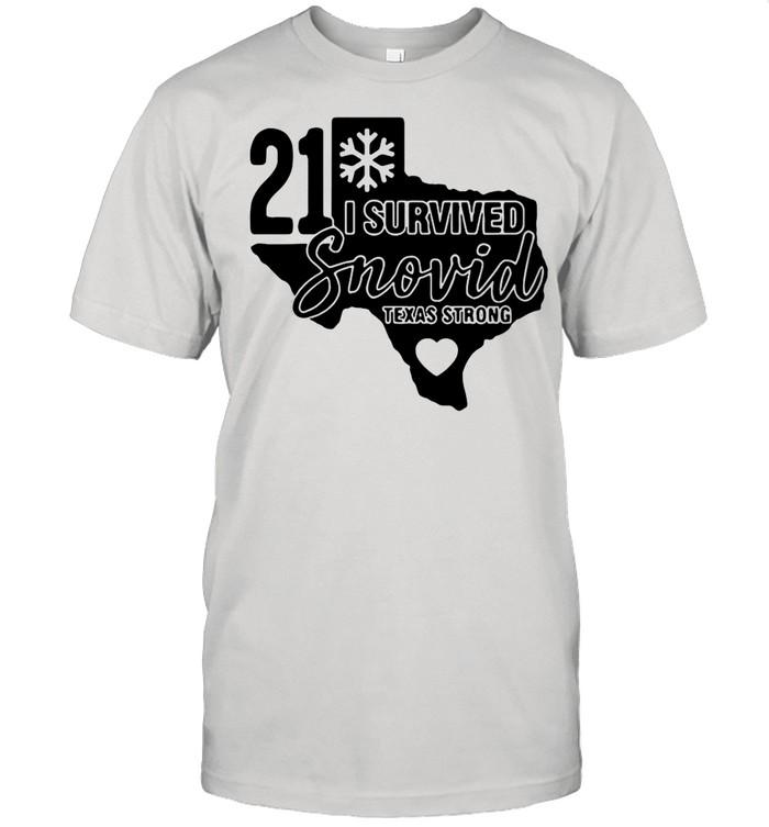I Survived Snovid 21Texas Strong Snovid shirt