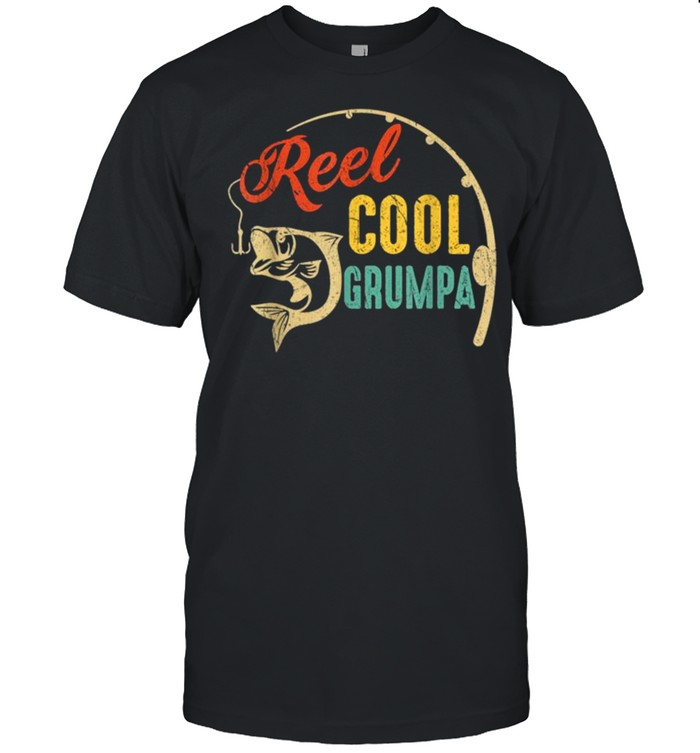 Vintage Fishing Reel Cool Grumpa shirt