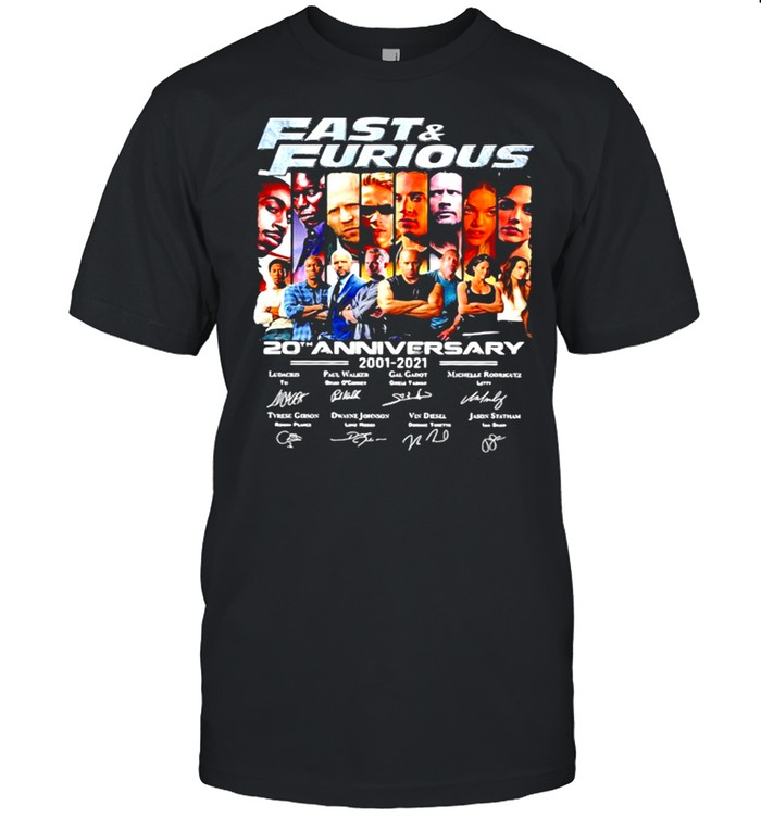 Fast And Furious 20th Anniversary 2001 2021 Signature Shirt