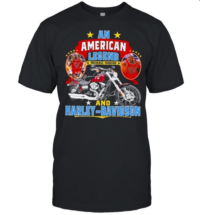 An American Legend Michael Jordan And Harley Davidson Signature Shirt