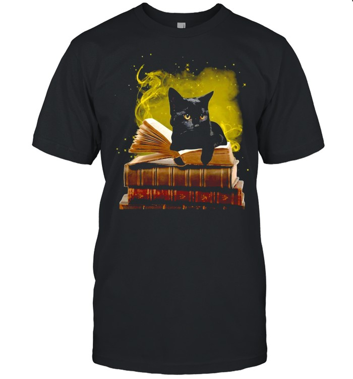 Black Cat With A Law Book T-shirt