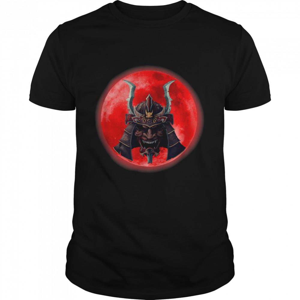 Kabuki Samurai and Blood Moon Shirt