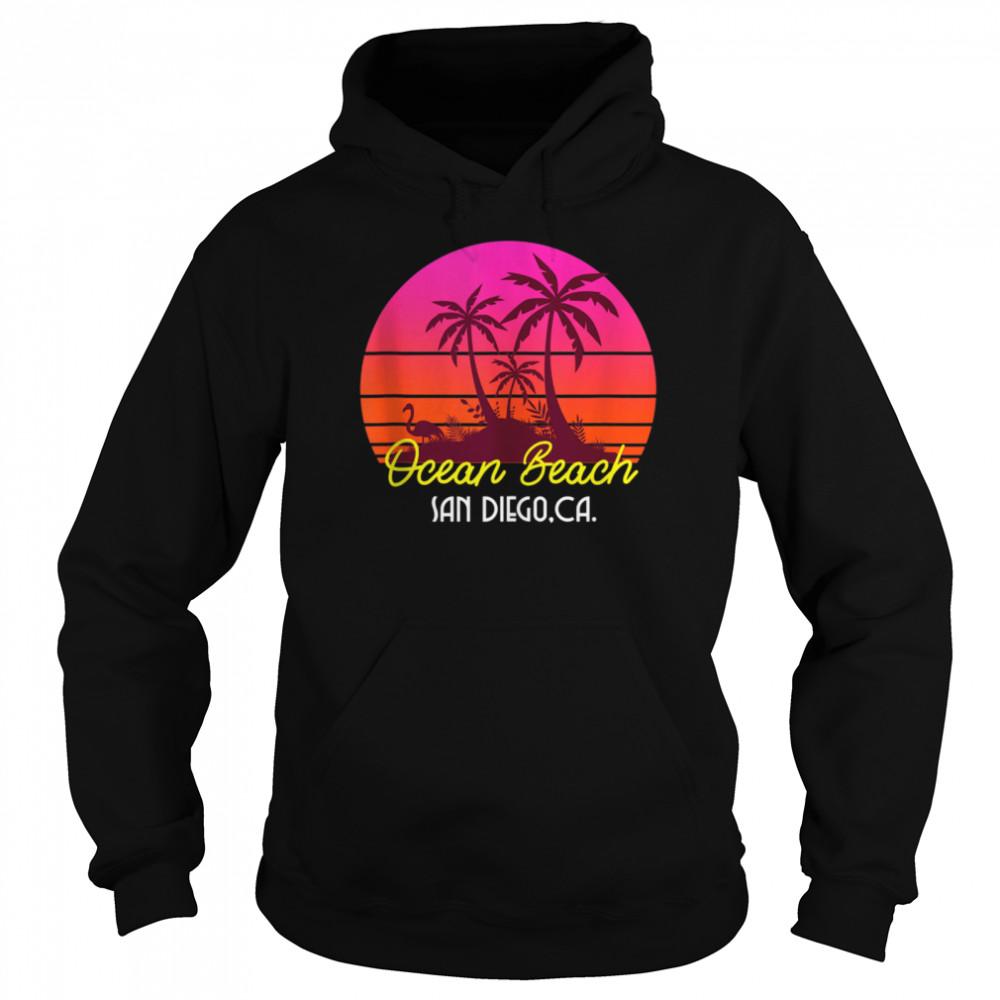 Ocean Beach San Diego California Beach Vibes  Unisex Hoodie