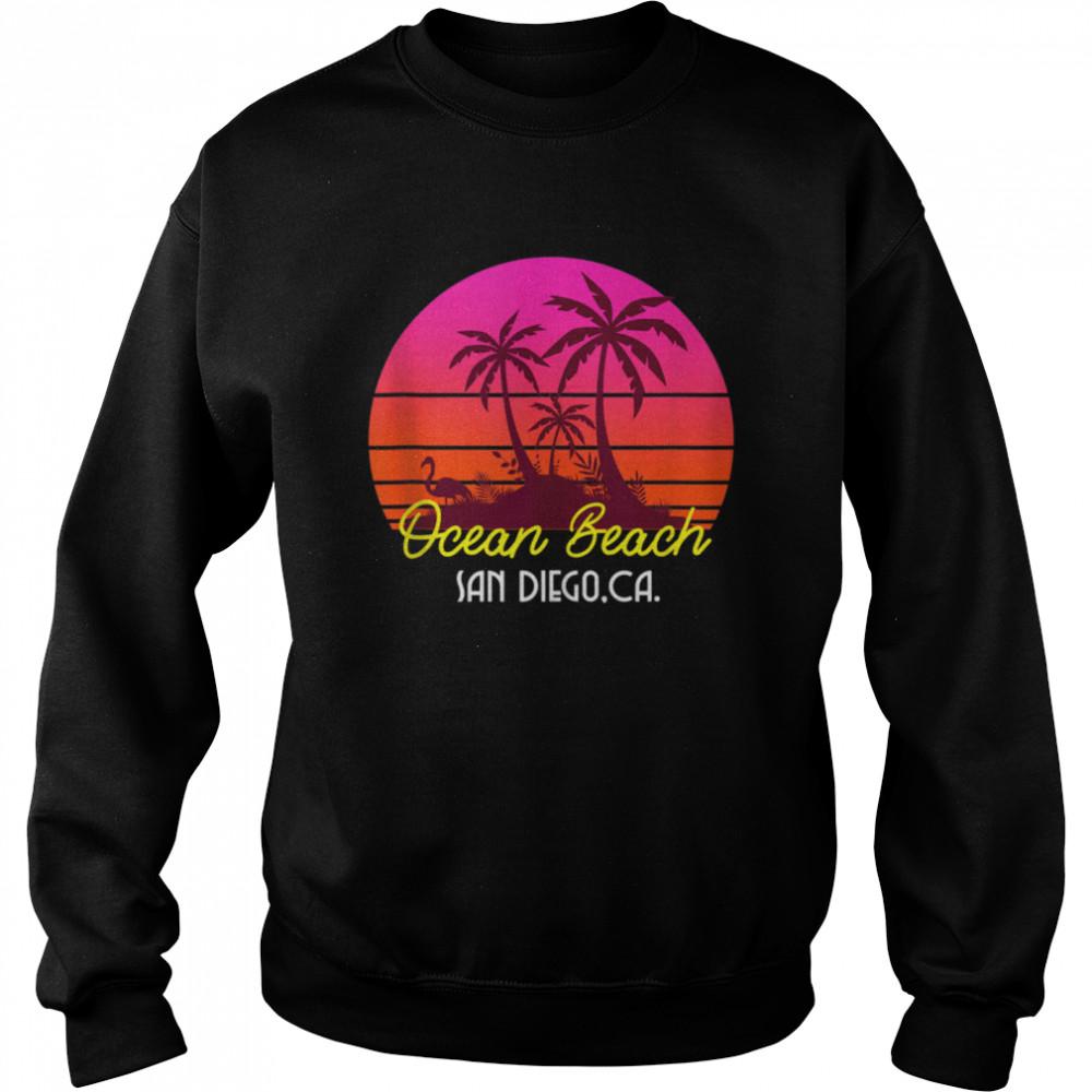 Ocean Beach San Diego California Beach Vibes  Unisex Sweatshirt