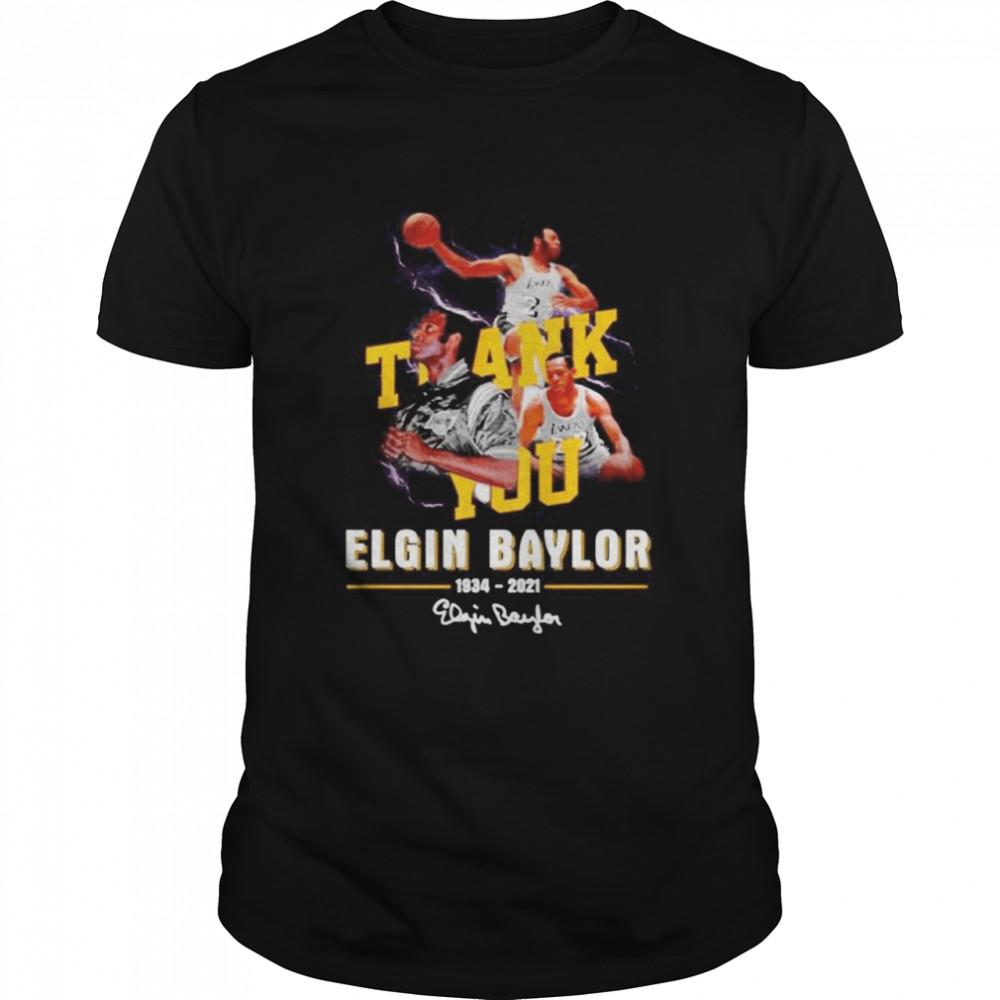 Thank you Elgin Baylor 1934-2021 signature shirt