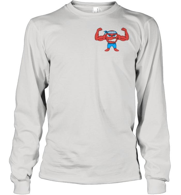 Jacked Cartoon Figure  Long Sleeved T-shirt