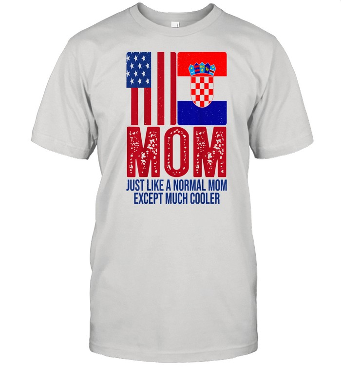 Vintage American Croatian Flag Mom for Mother's Day Shirt