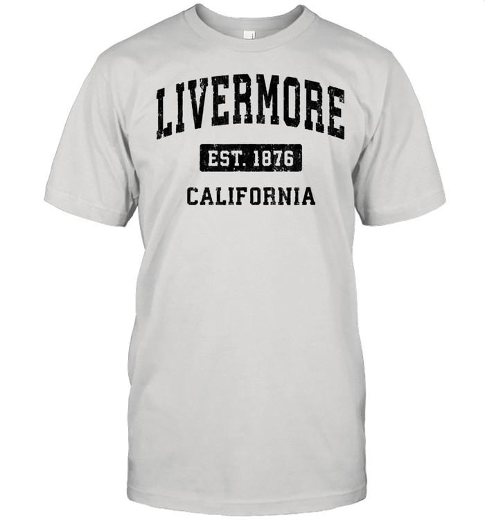 Livermore California CA Vintage Sports Design Black Design shirt