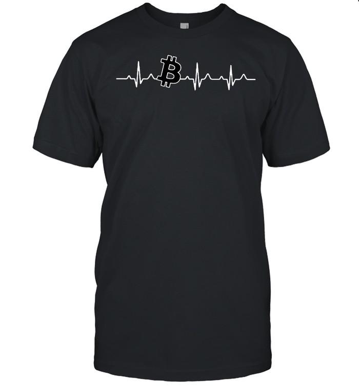 Bitcoin heartbeat shirt