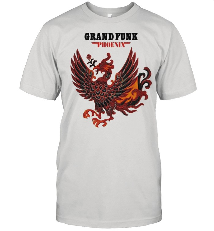 Grand funk phoenix logo rock band shirt