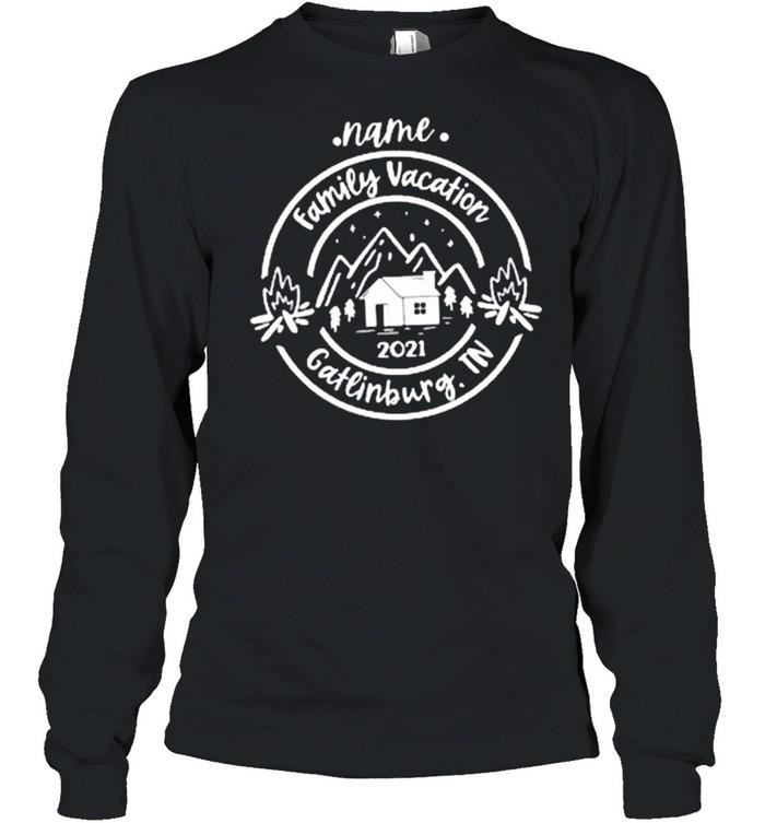 Name Family vacation 2021 Gatlinburg.TN Classic shirt Long Sleeved T-shirt